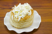Homebaked puff pastry with cheese — Stock Photo