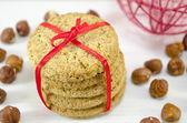 用一缎带扎堆积分饼干 — 图库照片