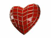 Heart of spider-man — Stock Photo