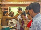 Thaipusam holiday shepherd — Stock Photo