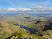 View from mount Snowdon summit (Wales) — Stock Photo