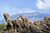 Ancient lava flow on volcano Etna — Stock Photo