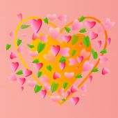 Groot hart — Stockvector