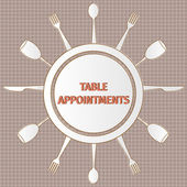 Table appointments — Stock Vector