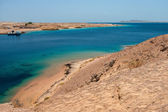 Bay with blue water in Ras Muhammad National Park — Stock Photo