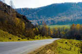 The road that passes among the mountains, — Stock Photo