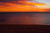 Atlantic ocean at sunset — Stock Photo