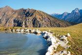 Frozen montain lake — Stock Photo
