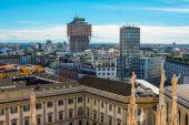 Milan cityscape — Stock Photo