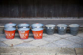 Japanese red buckets — Photo