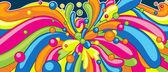 Цвет формы растянуть от центра — Cтоковый вектор