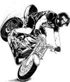 Stunt motorcycle — Stock Vector