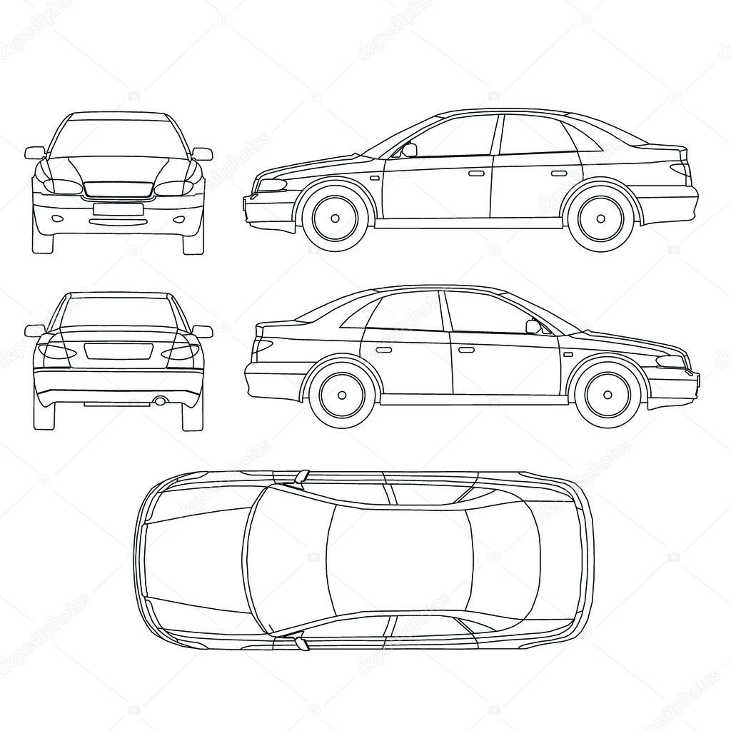 vehicle damage diagram template