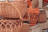 Basket of wicker. — Stock Photo