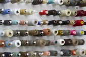 Coils with threads for sewing. — Stock Photo