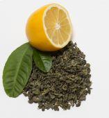 Secas de torcida chá verde — Fotografia Stock