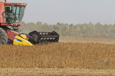 Combine during harvest. — Stock Photo