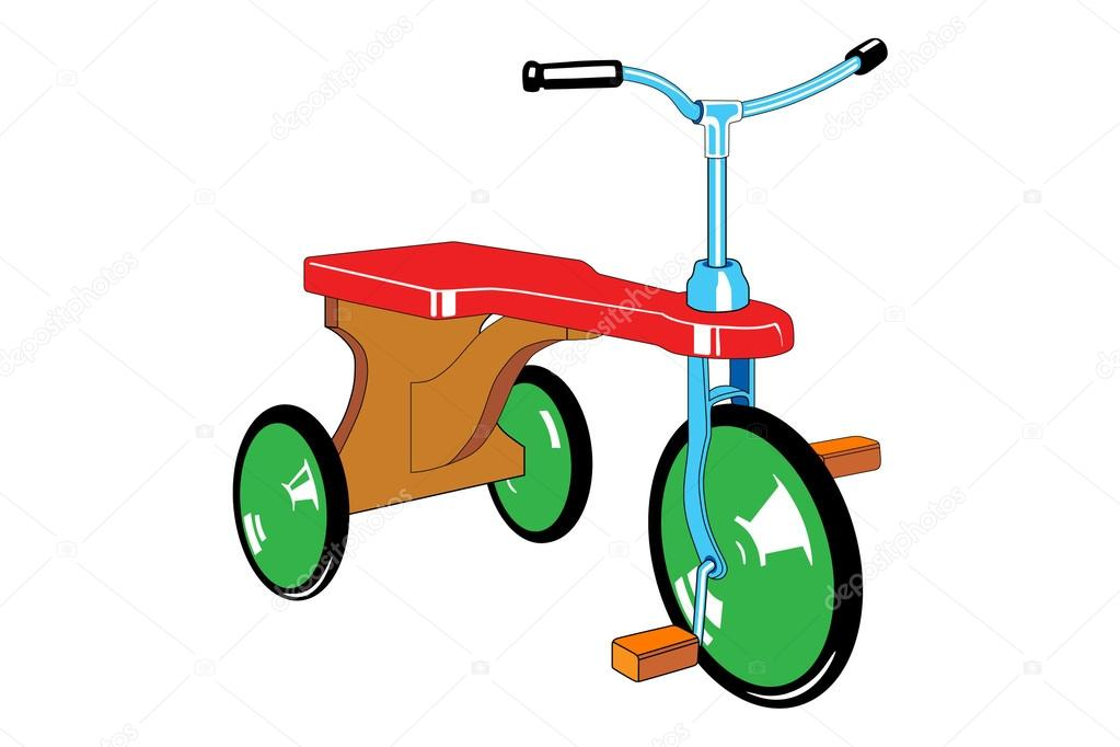 儿童自行车 — 图库矢量图像08