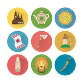 Ukraine Icons Set 3 — Stock Vector