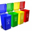 Colorful recycle bins isolated on white background — Stock Photo #65911219
