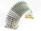 Flying money. 3D cash back concept. — Stock Photo