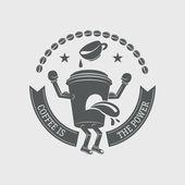 Logotype and Retro Vintage Insignias. Vector design elements — Stock Vector
