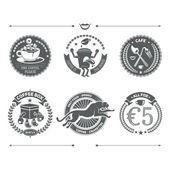 Logotypes set and Retro Vintage Insignias. Vector design element — Stock Vector