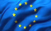 Waving flag of European Union — Stock Photo