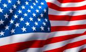 Waving flag of the United States — Stock Photo