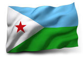 Flag of Djibouti — Stock Photo