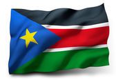 Flag of South Sudan — Stock Photo