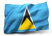 Flag of Saint Lucia — Stock Photo