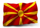 Flag of the Republic of Macedonia — Stock Photo