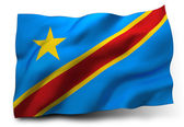 Flag of the Democratic Republic of the Congo — Stock Photo