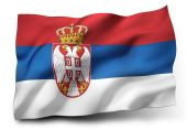 Flag of Serbia — Stock Photo