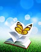 Książka o motylach — Zdjęcie stockowe