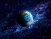 Planet Earth in outer space — Stock Photo