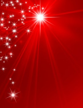 Christmas New Year star background