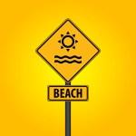 Beach symbol — Stock Vector #66091337