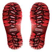 Red shoe sole. — Zdjęcie stockowe