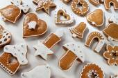 Noel gingerbread arka plan — Stok fotoğraf