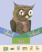 Back to School: Owl — Stock Vector