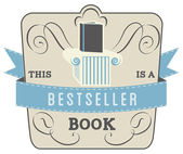Book Style and Type Label: Bestseller Book — Stock Vector