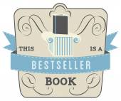 Book Style and Type Label: Bestseller Book — Vector de stock