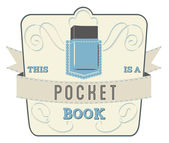 Book Style and Type Label: Pocket Book — Stock Vector