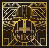 Art Deco 8 March card — Stock Vector
