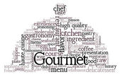 Gourmet Theme Word Cloud — Stock vektor
