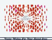 Hearts kaleidoscope card — Stock Vector