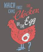 Quote: Which Came First, the Chicken or the Egg? — Vector de stock