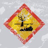 Environmental hazard grunge sign. — Stock Vector